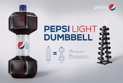 Pepsi Light_Dumbbell