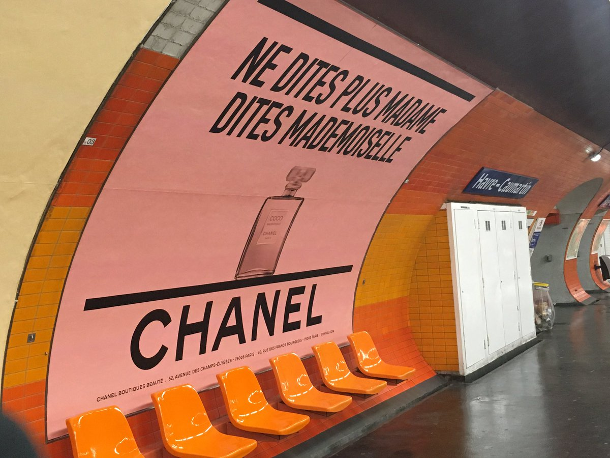 chanel fait son pop art coco dans le m tro culture pub. Black Bedroom Furniture Sets. Home Design Ideas